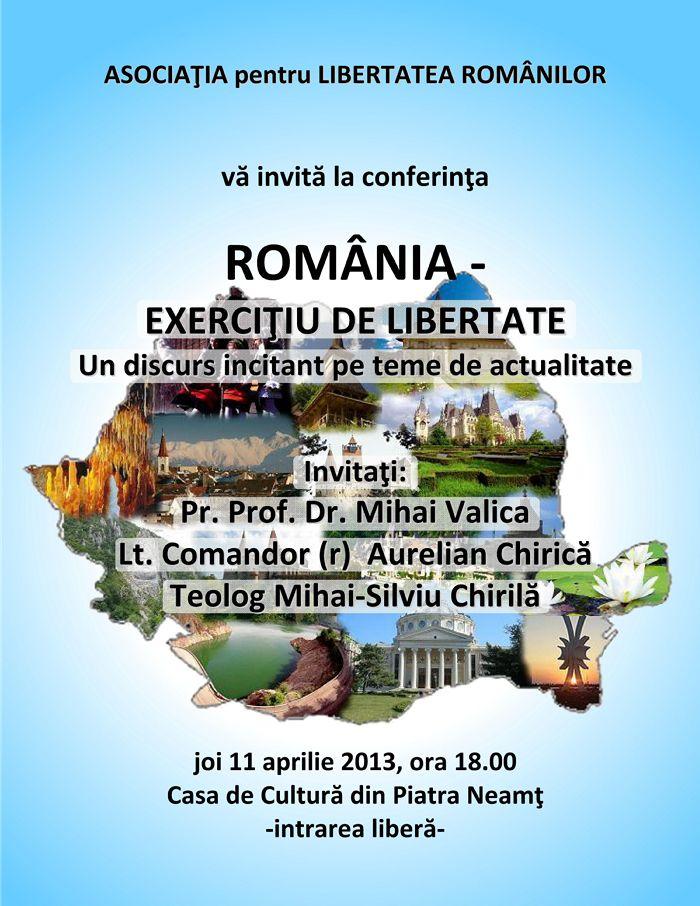 ROMANIA - Exercitiu de Libertate - Un discurs incitant pe teme de actualitate