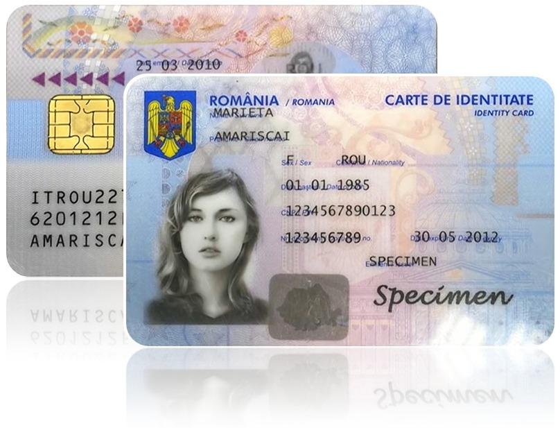 Specimen Carte de Identitate electronica